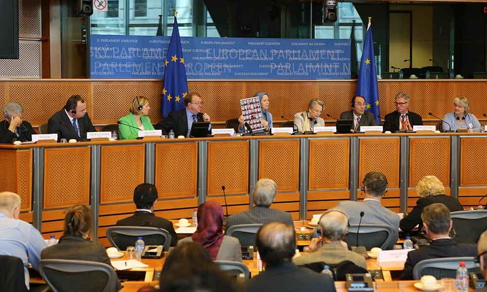 سخنرانی مریم رجوی در كنفرانس بینالمللی در رابطه با ایران در پارلمان اروپا