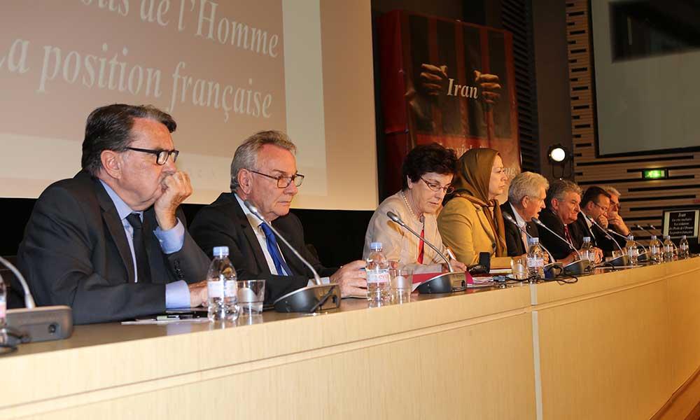 مریم رجوی در مجلس ملی فرانسه:روابط اقتصادی با رژیم ایران باید مشروط به توقف اعدام و شكنجه شود
