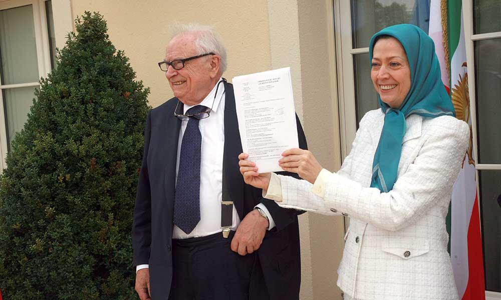 دیدار مریم رجوی با هانری لکرک در مقر مقاومت ایران