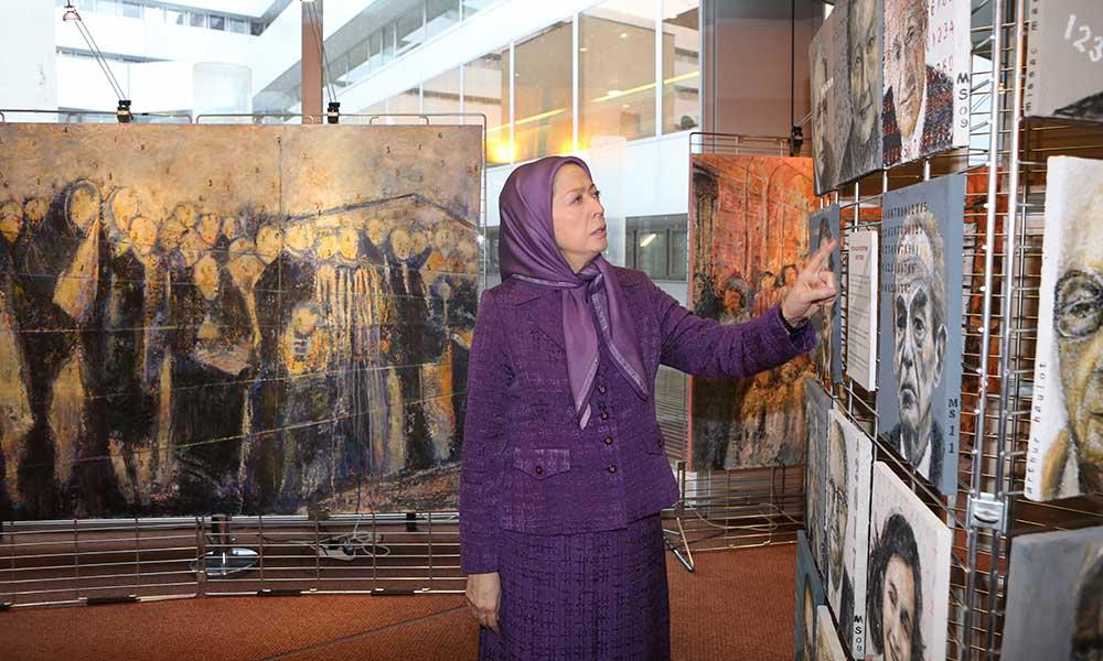 شركت مریم رجوی در مراسم هفتادمین سالگرد آزاد سازی آشویتس در مركز شورای اروپا- استراسبورگ