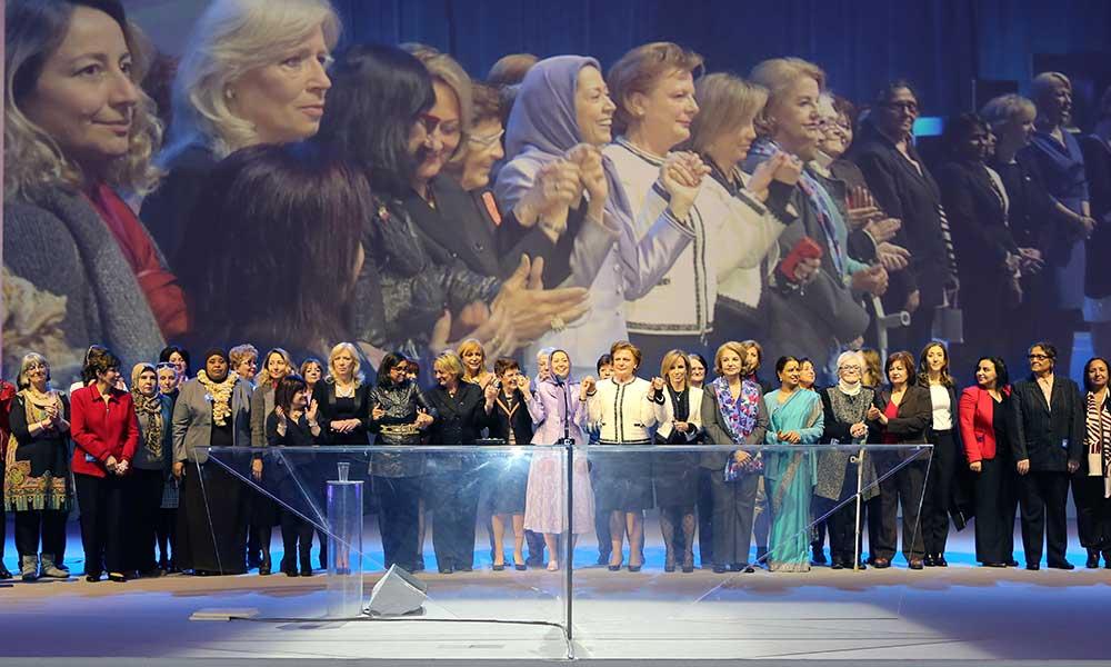 مریم رجوی در مراسم سالگرد روز جهانی زن: نیروی زنان هماورد بنیادگرایی اسلامی