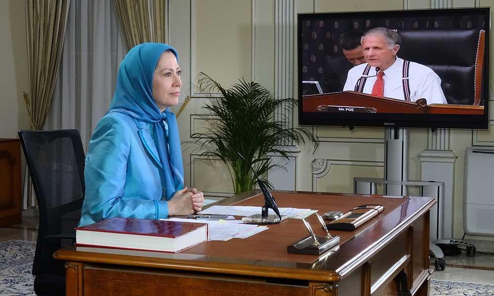 بیانیه مریم رجوی، به كمیته خارجی مجلس نمایندگان آمریكا – زیر كمیته تروریسم و منع تكثیر سلاحهای اتمی
