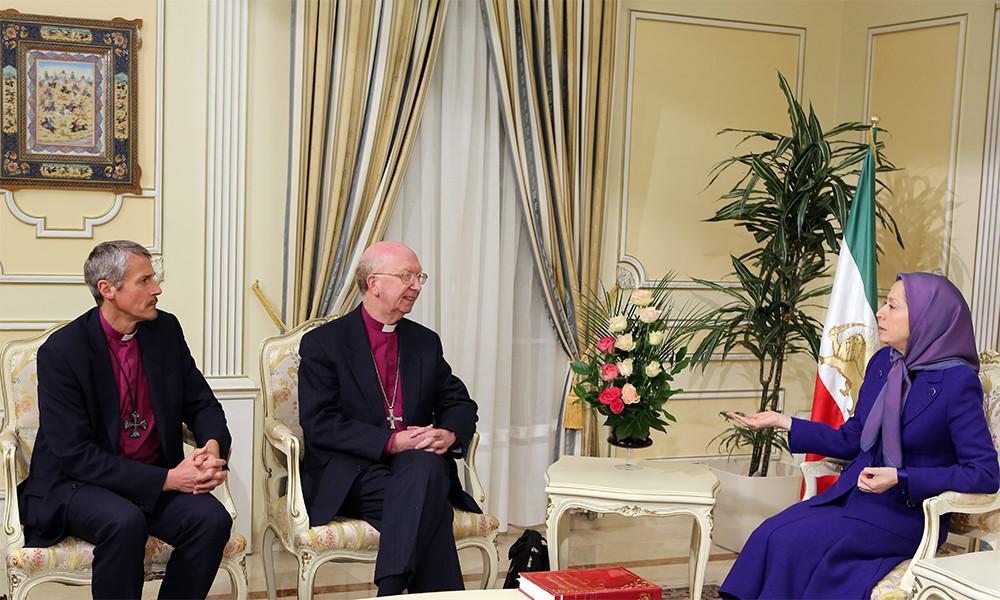 دیدار مریم رجوی با اسقف جان پريچارد و اسقف آدرين نيومن در اورسوراواز ۳۰دی ۱۳۹۴