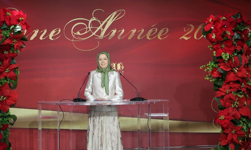 دیدار مریم رجوی با حامیان فرانسوی مقاومت ایران به مناسبت سال نو میلادی