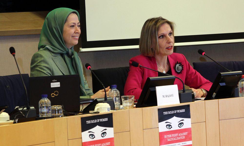 مریم رجوی در کنفرانس «نقش زنان در جنگ علیه رادیکالیزم»در پارلمان اروپا