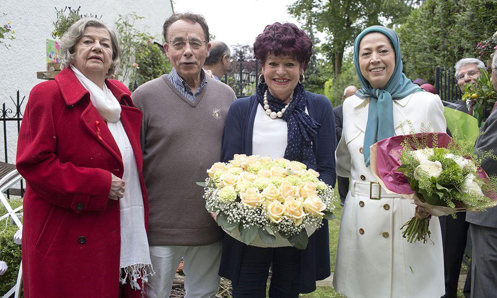 مريم رجوی در جشن گلها