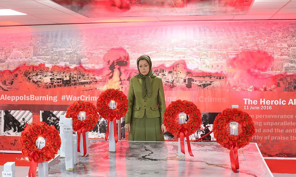 نمایشگاه حلب قهرمان در تجلیل از مقاومت مردم سوریه