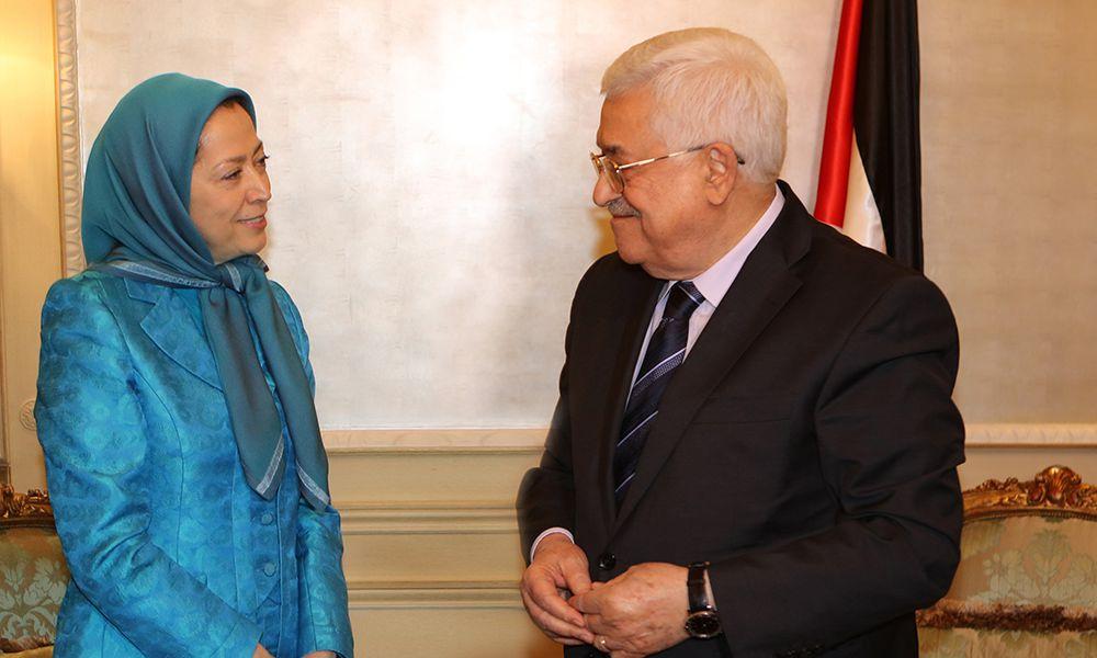 ملاقات مريم رجوی با پرزيدنت محمود عباس