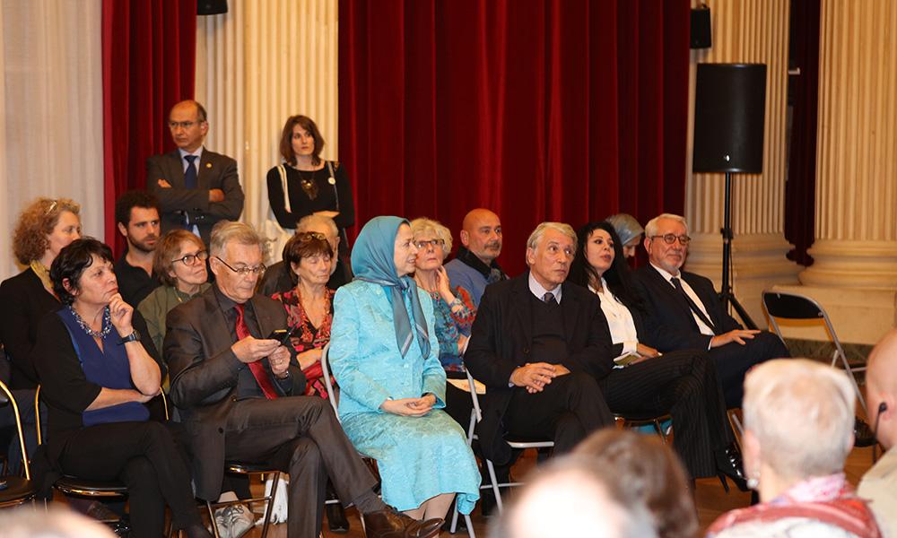 شرکت مریم رجوی در مراسم سیامین سالگرد تاسیس بنیاد دانیل میتران