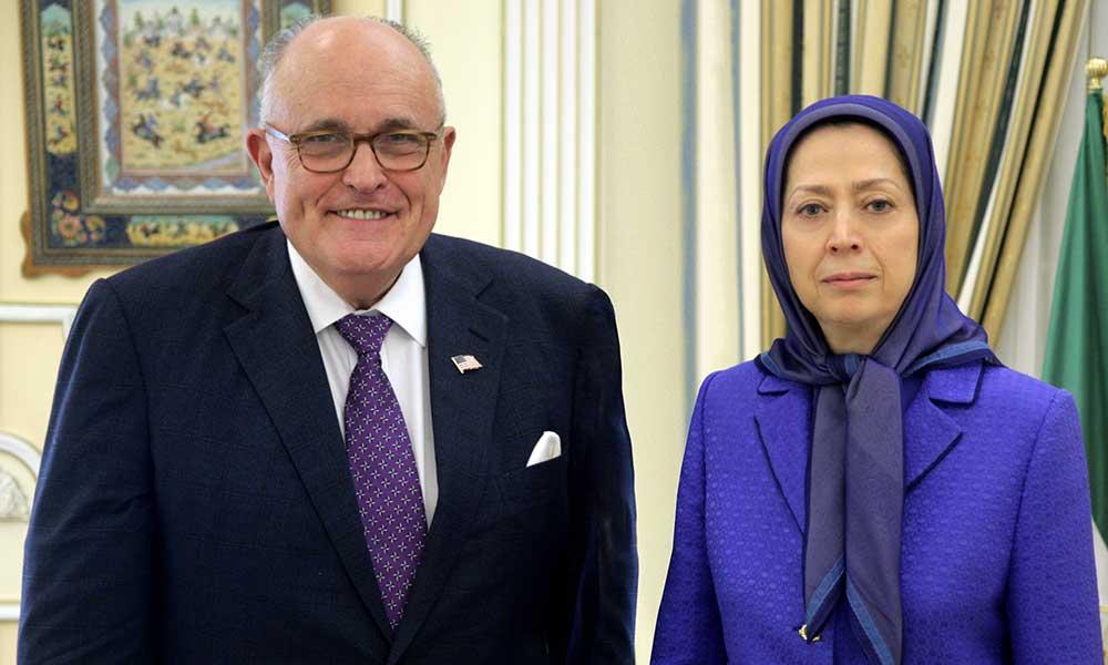 دیدار مریم رجوی با رودی جولیانی در مقر شورای ملی مقاومت در اور سوراواز- جولیانی: مقاومت ایران یک آلترناتیو واقعی علیه رژیم آخوندهاست