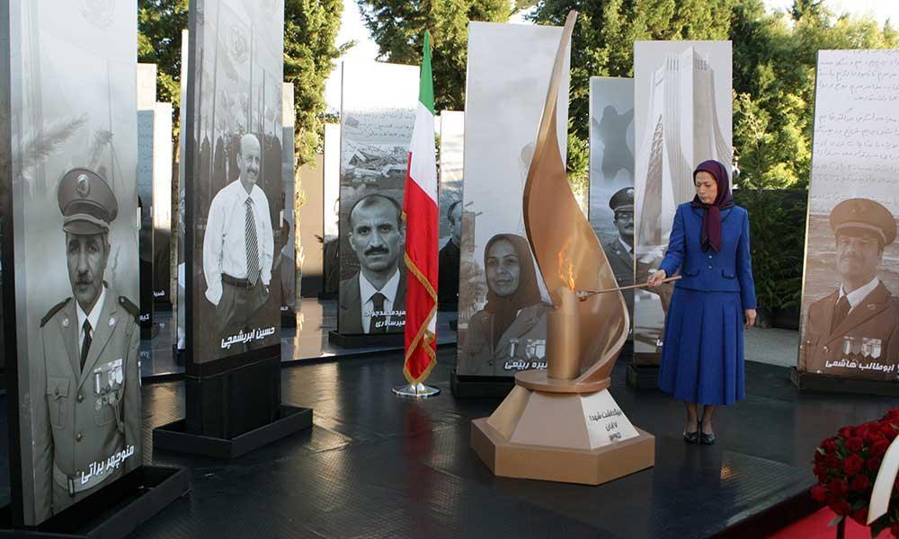 گرامیداشت خاطره شهیدان حمله موشکی ۷آبان۹۴ به لیبرتی  سخنرانی مریم رجوی در اولین سالگرد این حمله موشکی