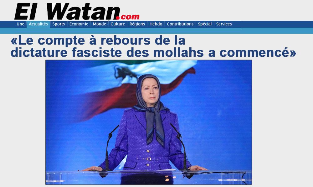 """مریم رجوی: """"شمارش معکوس دیکتاتوری فاشیستی آخوندها آغاز شده است"""""""