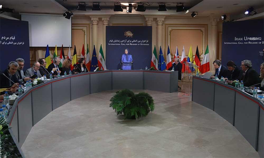 سخنرانی مریم رجوی در اجلاسی با شرکت پارلمانترهای اروپایی:  فراخوان بینالملی برای آزادی زندانیان قیام