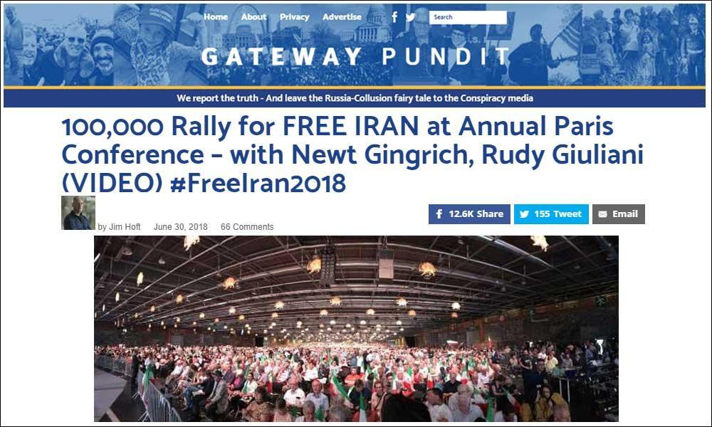 گردهمایی ۱۰۰،۰۰۰نفره برای ایران آزاد در کنفرانس سالانه ـ با نیوت گنگریچ، رودی جولیانی