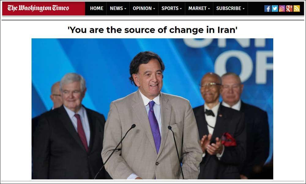 شما سرچشمه تغییر در ایران هستید