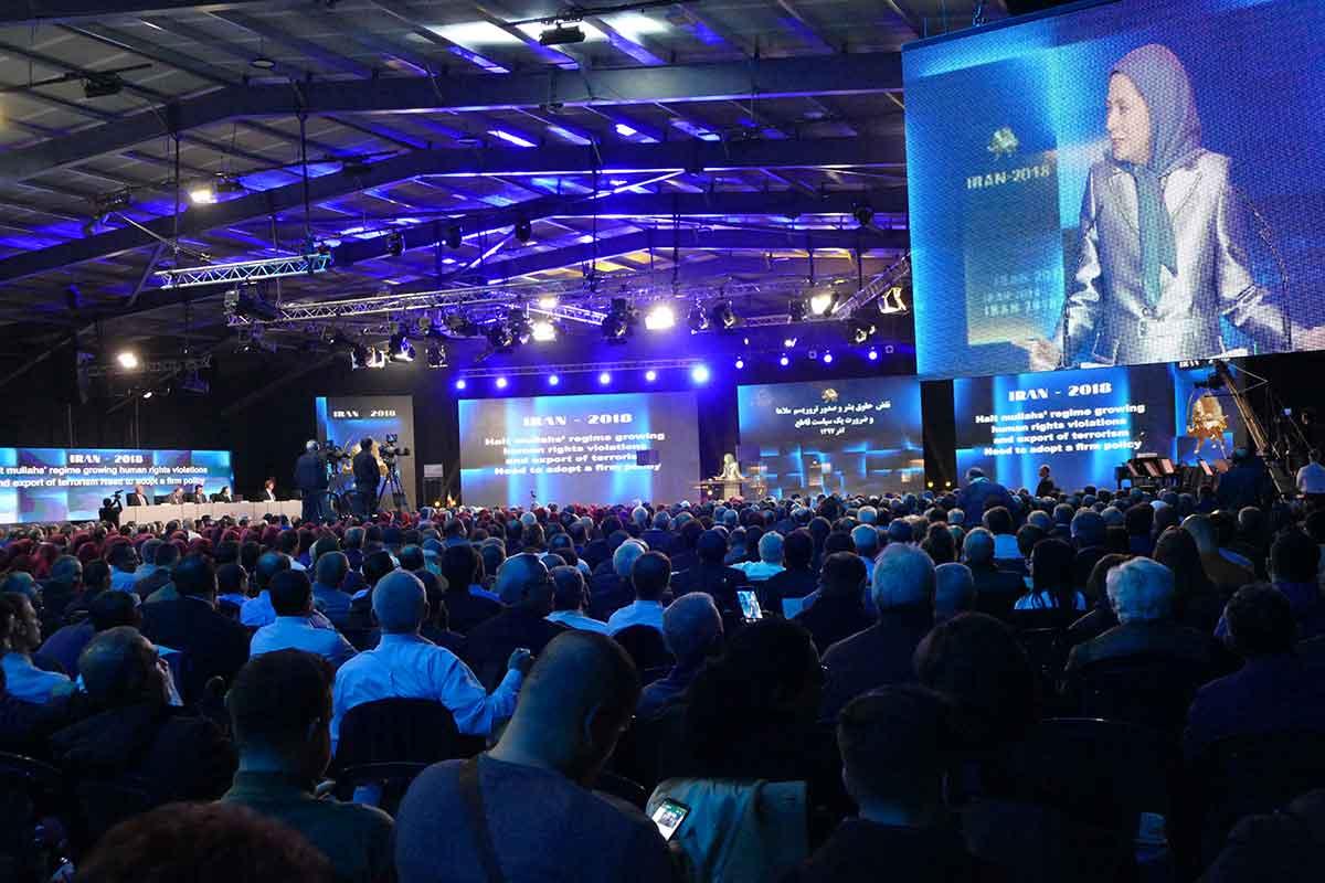 سخنرانی مریم رجوی در کنفرانس بین المللی جوامع ایرانی: رژیم ولایت فقیه برای فرار از سرنگونی، برونرفتی ندارد