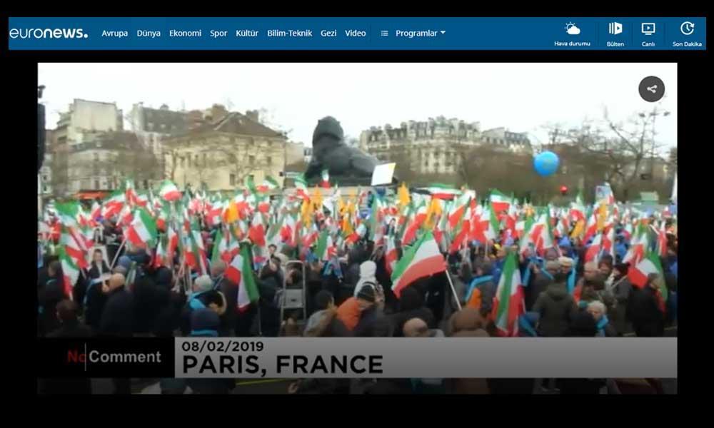 ایرانیان در پاریس تظاهراتی برای تغییر رژیم در کشورشان برگزار کردند