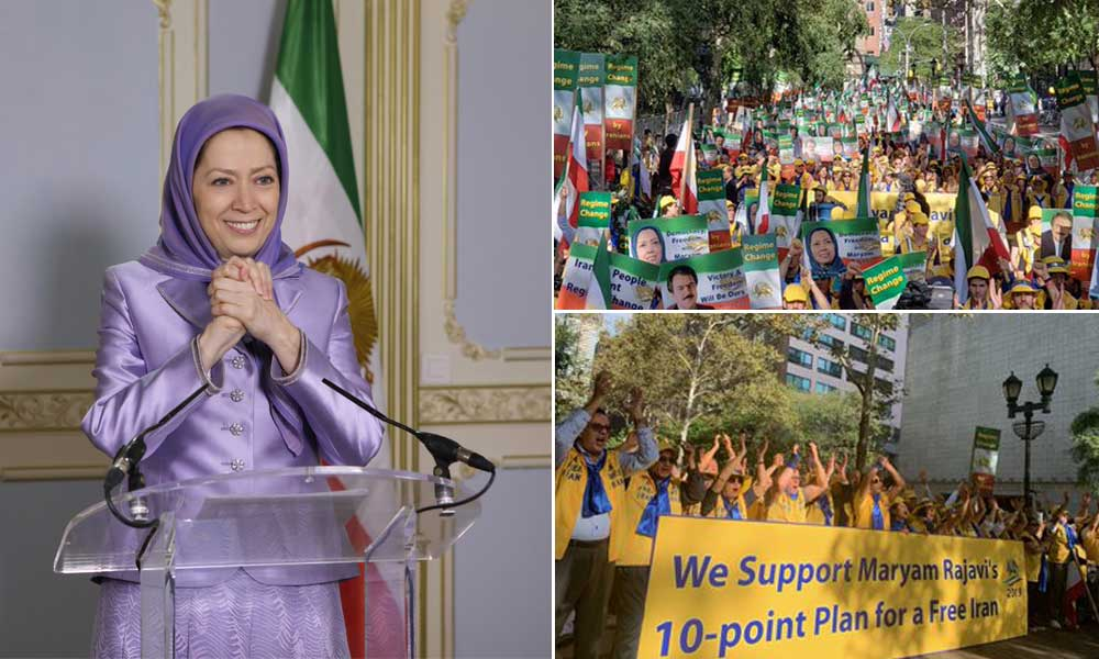 پیام مریم رجوی به تظاهرات ایرانیان در آمریکا