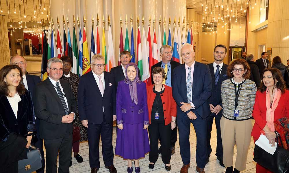 مریم رجوی: فراخوان به یک سیاست  قاطع اروپایی برای حمایت از مقاومت مردم ایران