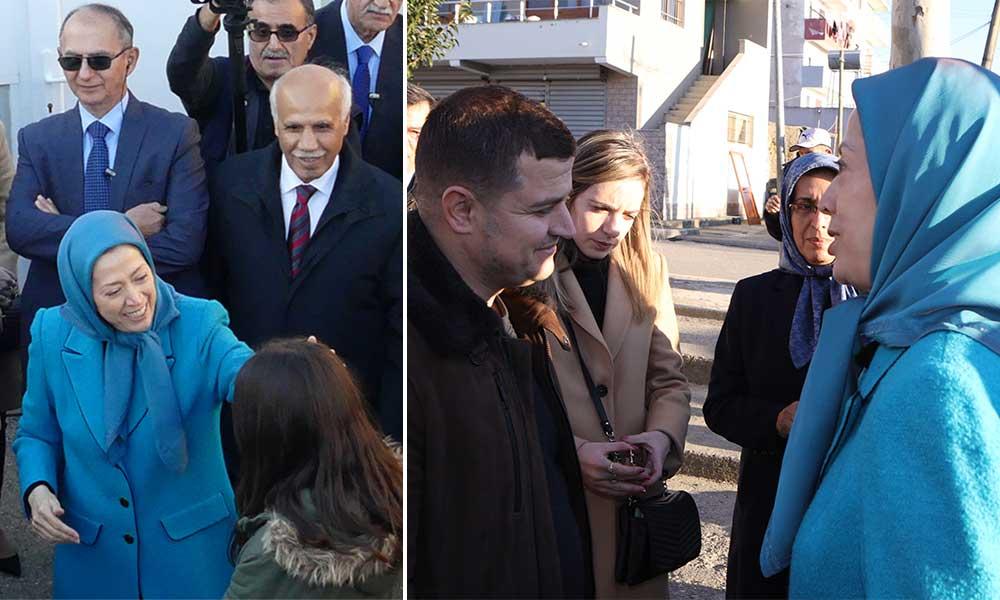 دیدار مریم رجوی با آسیبدیدگان زلزله در آلبانی