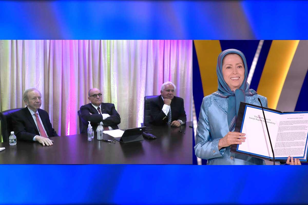 مریم رجوی: سه تعهد بزرگ مقاومت و ارتش آزادی؛ سرنگونی آخوندها، حاکمیت و رأی جمهور مردم، آزادی و عدالت اجتماعی