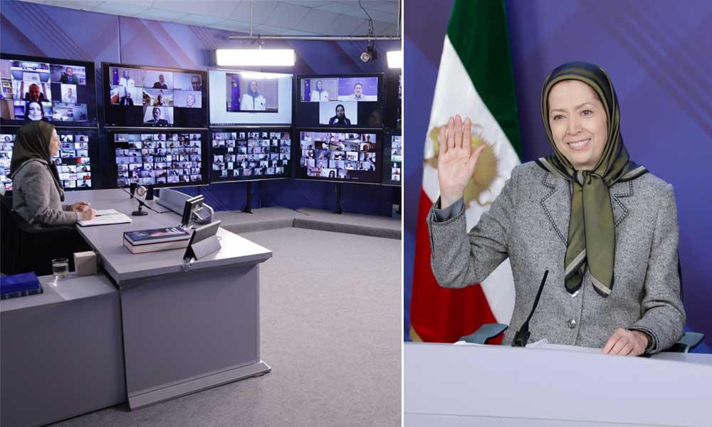 مریم رجوی: حقوق بشر برای مردم ایران، تحریم همهجانبه دیکتاتوری دینی