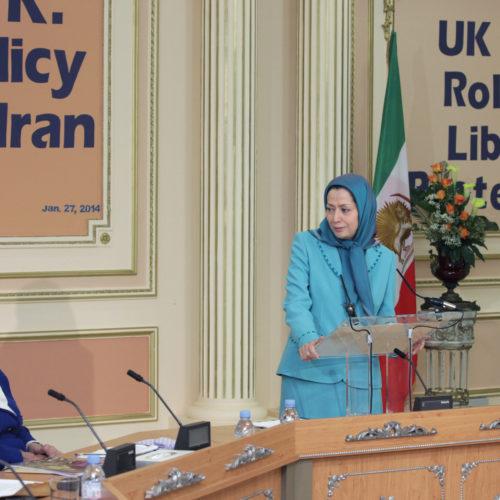 Maryam Rajavi- Meeting with British delegation -27 January 2014-16