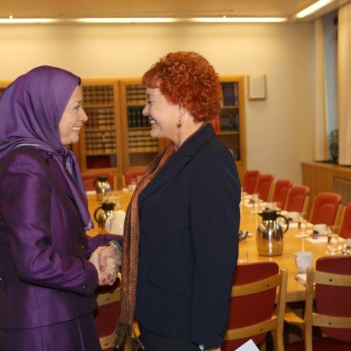 Maryam Rajavi in Foreign Committee of  Norwegian Parliament- Febraury 26, 2014