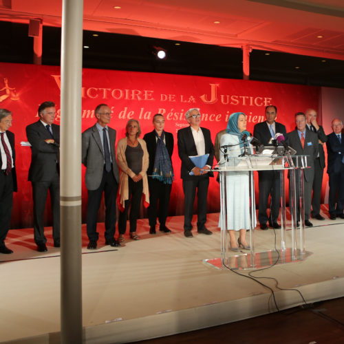 Maryam Rajavi-Confernece 24 Sept-termination of prosecution of Iranian Resistance in France