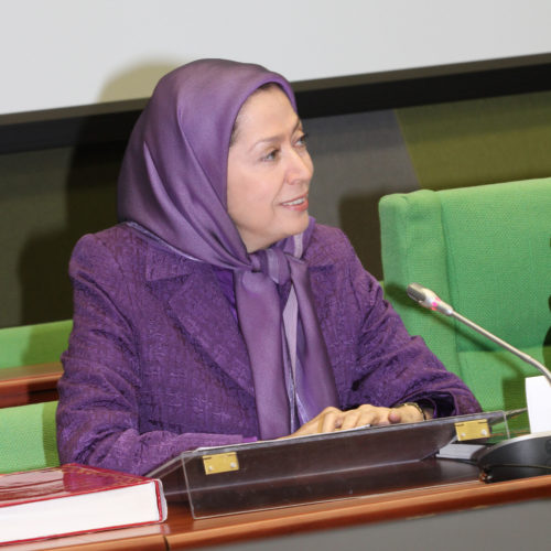 Maryam Rajavi- Hearing at the ALD party session – Strasbourg – 26 January 2015