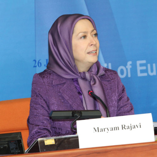 Maryam Rajavi- Council of Europe – Strasbourg – 26 January 2015