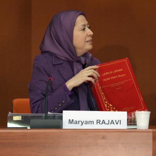 Maryam Rajavi- Hearing at the EPP party session – Strasbourg – 26 January 2015