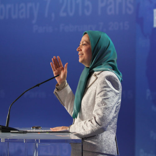 Maryam Rajavi- Religious dictatorship engulfed in crises – Iran ready for change –paris-February 7,2015