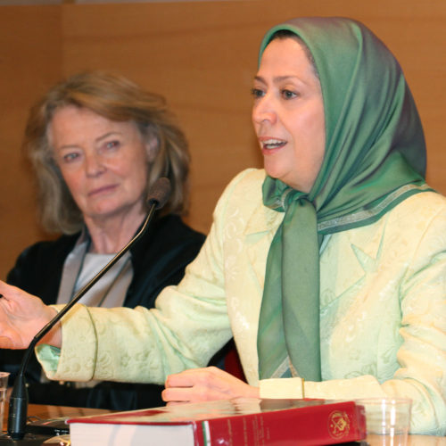 Maryam Rajavi  in French Senate – 5 May, 2015