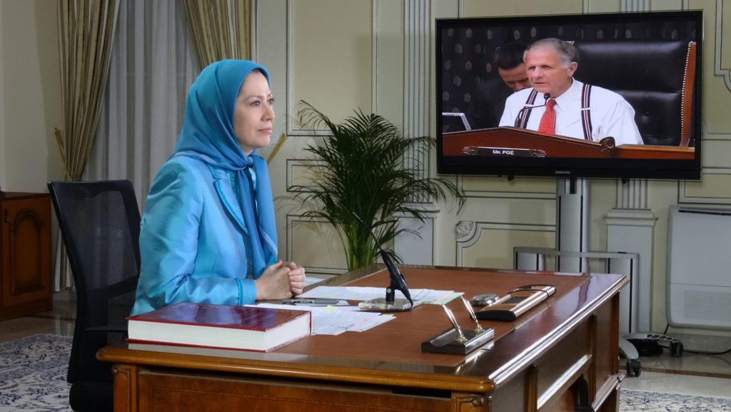 سؤال و جواب با مریم رجوی در جلسه استماع زیرکمیته تروریسم، منع تکثیر هستهیی و تجارت