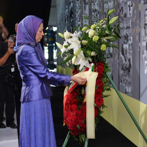 Maryam Rajavi, Iranian resistance leader at the grand annual gathering in Paris on 13 June 2015_25