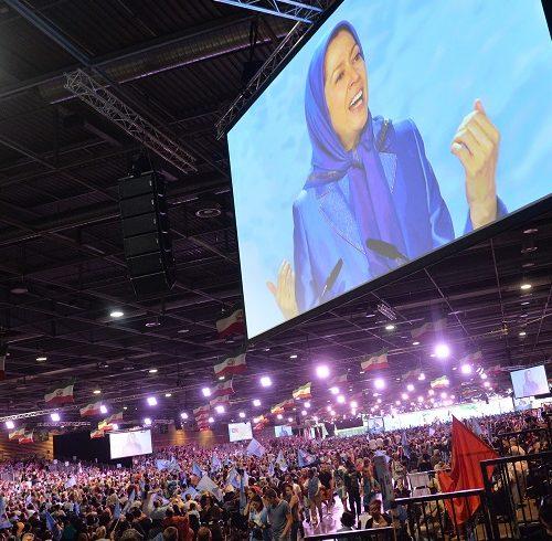 Maryam Rajavi, Iranian resistance leader at the grand annual gathering in Paris on 13 June 2015 -7