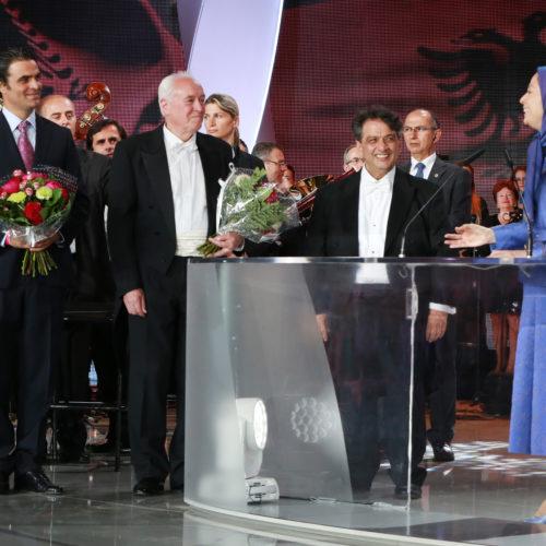 Maryam Rajavi, Iranian opposition leader Maryam Rajavi expresses her gratitude to Albanian Radio-television orchestra at the grand annual gathering in Paris _46