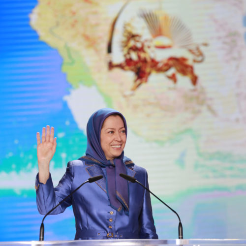 Maryam Rajavi, Iranian opposition leader at the grand annual gathering in Paris _37