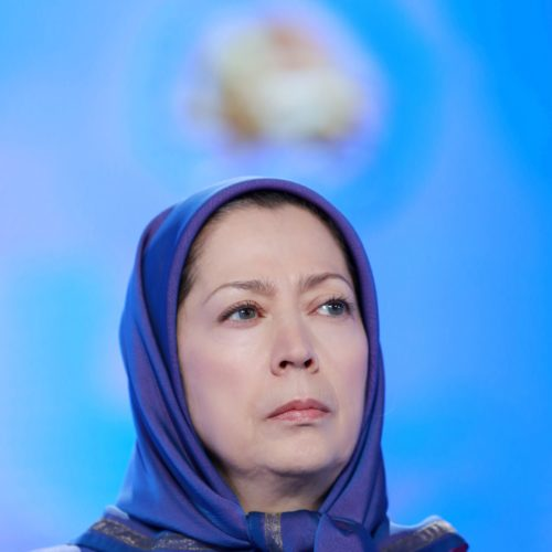 Maryam Rajavi, Iranian opposition leader at the grand annual gathering in Paris _77