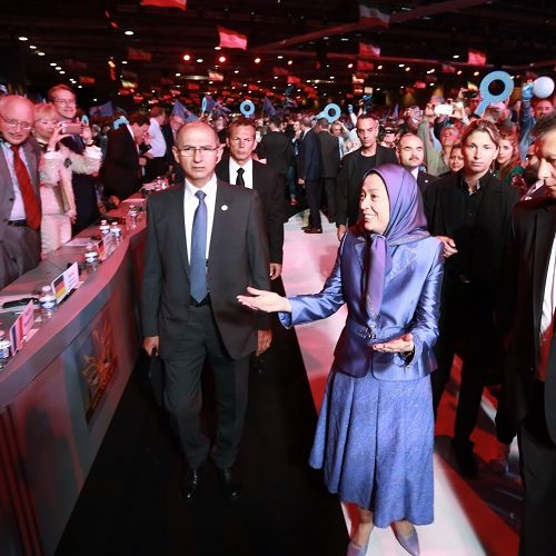 Maryam Rajavi in grand Gathering near Paris marking the anniversary of the Resistance against the theocratic regime ruling Iran 13 June 2015