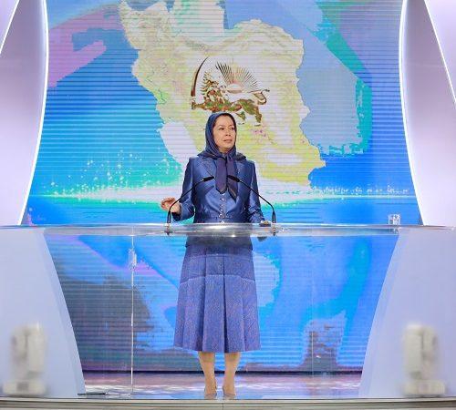 Maryam Rajavi, Iranian resistance leader at the grand annual gathering in Paris on 13 June 2015 -5