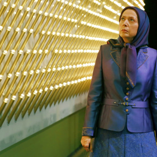 Maryam Rajavi, Iranian opposition leader at the grand annual gathering in Paris _45