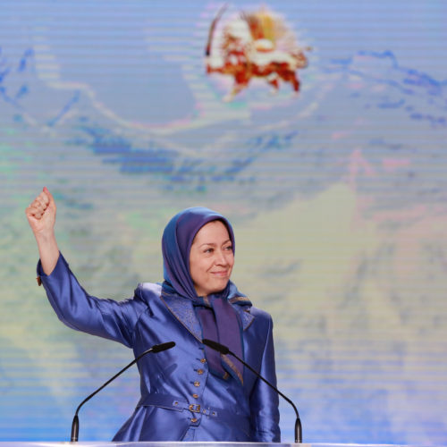Maryam Rajavi, Iranian opposition leader at the grand annual gathering in Paris _39