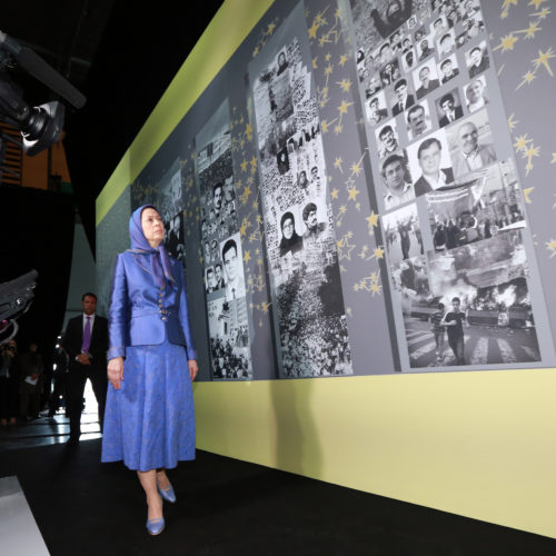 Maryam Rajavi, Iranian opposition leader at the grand annual gathering in Paris _57