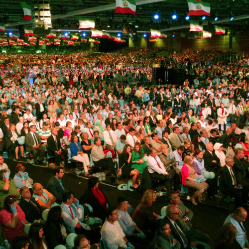 Audience while Maryam Rajavi, Iranian opposition leader, addressing grand annual gathering in Paris _71