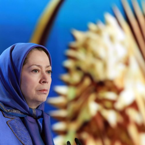 Maryam Rajavi, Iranian opposition leader at the grand annual gathering in Paris _75