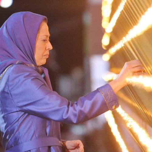 Maryam Rajavi, Iranian resistance leader at the grand annual gathering in Paris on 13 June 2015_19