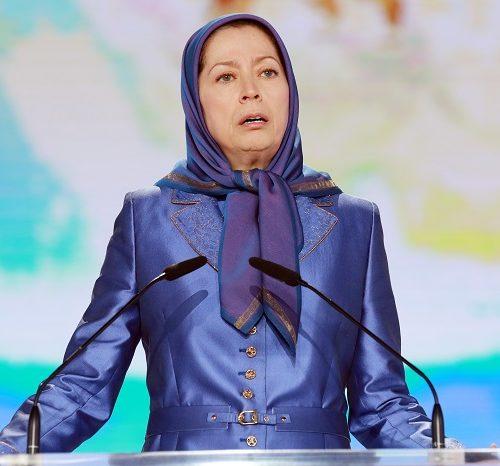 Maryam Rajavi, Iranian resistance leader at the grand annual gathering in Paris on 13 June 2015 -6