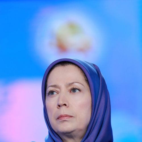 Maryam Rajavi, Iranian opposition leader at the grand annual gathering in Paris _60